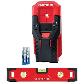 CRAFTSMAN 0.75-in Scan Depth Metal and Wood Stud Finder with 9-in Magnetic Torpedo Level