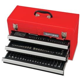 CRAFTSMAN 215-Piece Standard (SAE) and Metric Combination Polished Chrome Mechanics Tool Set