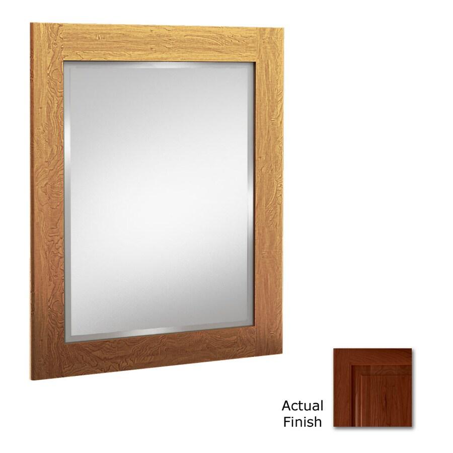 KraftMaid 24-in W x 30-in H Autumn Blush Rectangular Bathroom Mirror