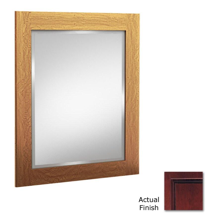 KraftMaid 24-in x 30-in Cabernet Rectangular Framed Bathroom Mirror