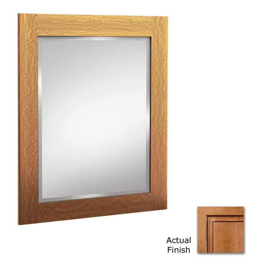 KraftMaid 24-in W x 30-in H Ginger with Sable Glaze Rectangular Bathroom Mirror