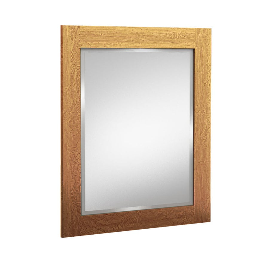 Shop Kraftmaid 24 In Praline Rectangular Bathroom Mirror At