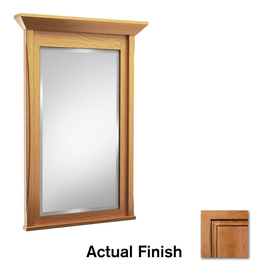 KraftMaid 24-in W x 36-in H Ginger with Sable Glaze Rectangular Bathroom Mirror