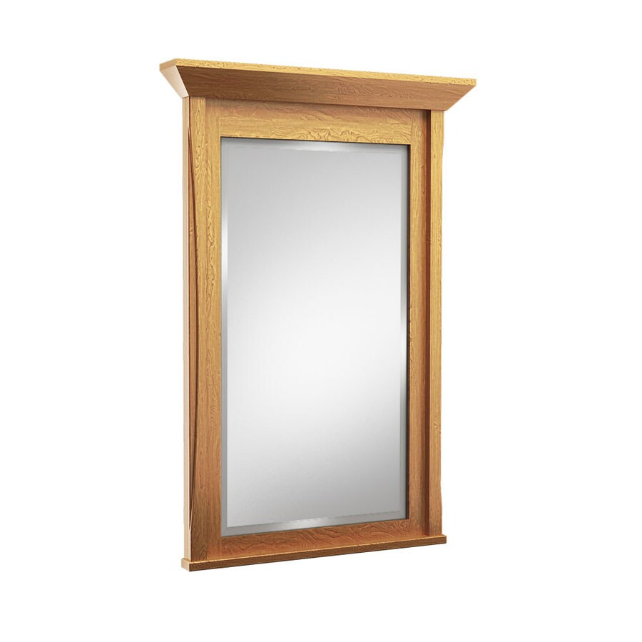 bathroom mirrors 24 x 36 shop kraftmaid 24 in x 36 in praline rectangular framed 22249