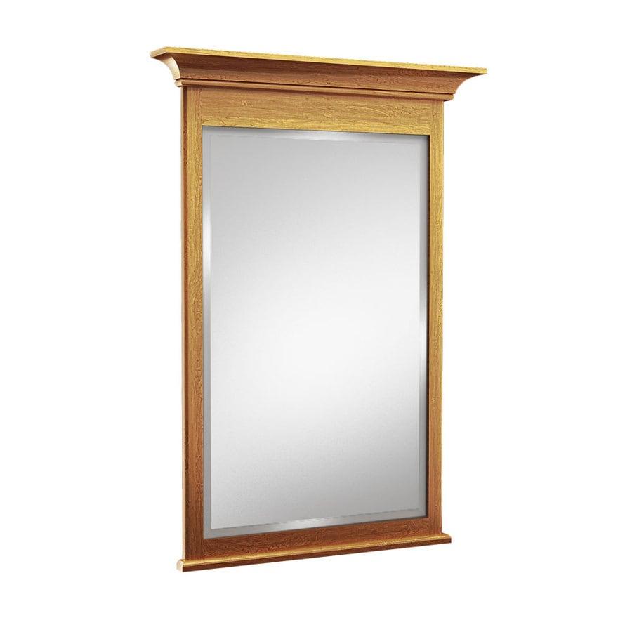 Shop kraftmaid 30 in w x 36 in h praline rectangular for Mirror 30 x 36