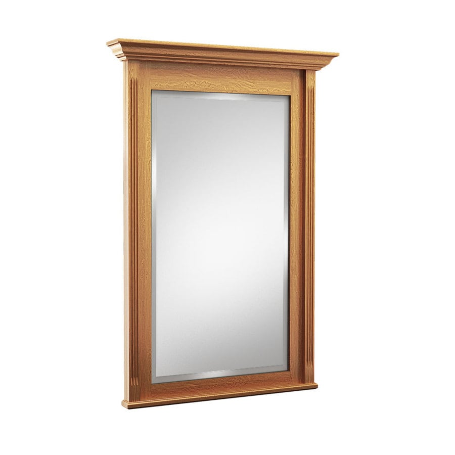 36 x 30 mirror for bathroom shop kraftmaid 30 in praline rectangular bathroom mirror 24765