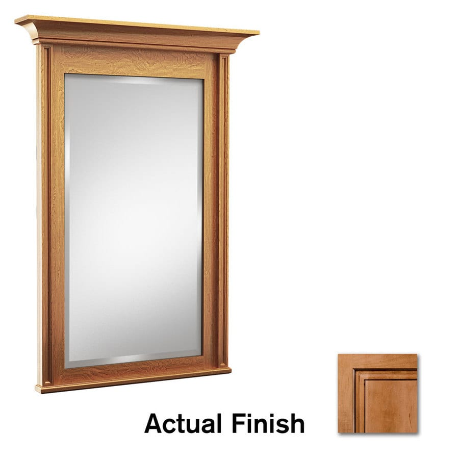 KraftMaid 36-in W x 36-in H Ginger with Sable Glaze Rectangular Bathroom Mirror