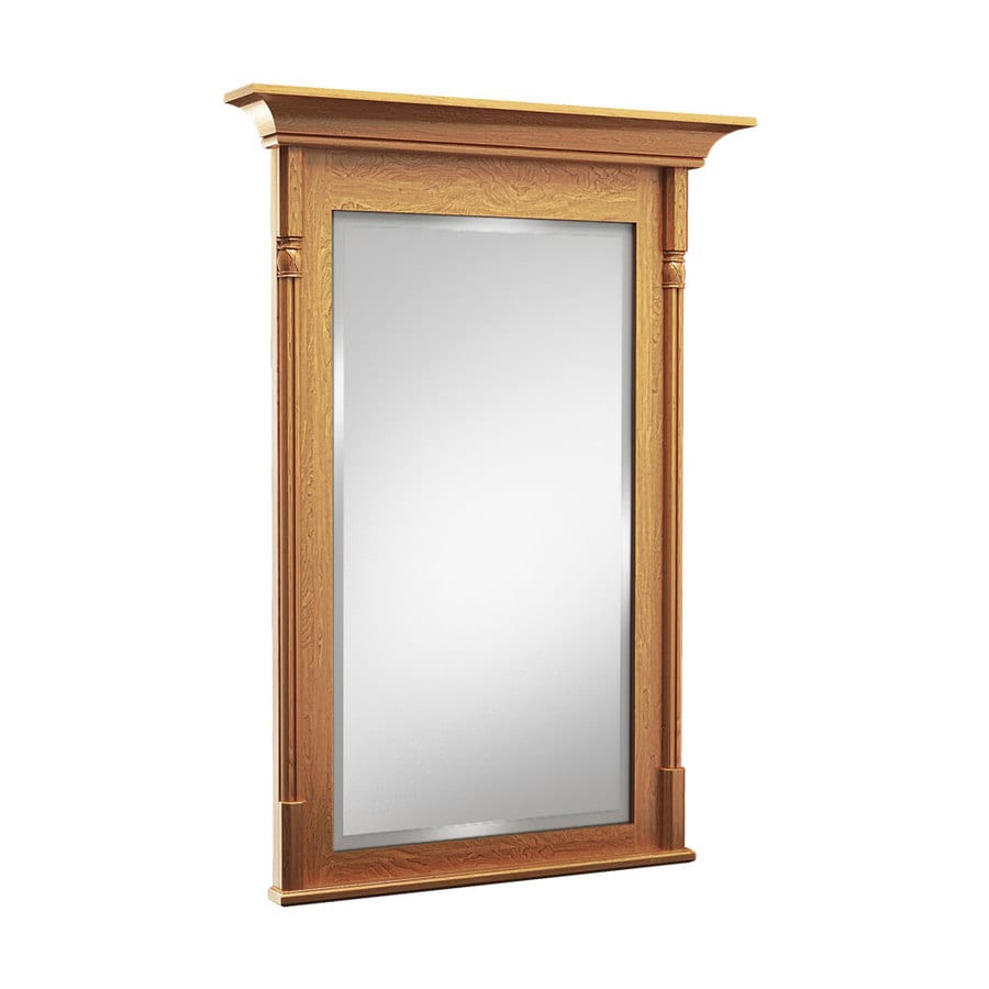 KraftMaid 36-in W x 36-in H Praline Rectangular Bathroom Mirror