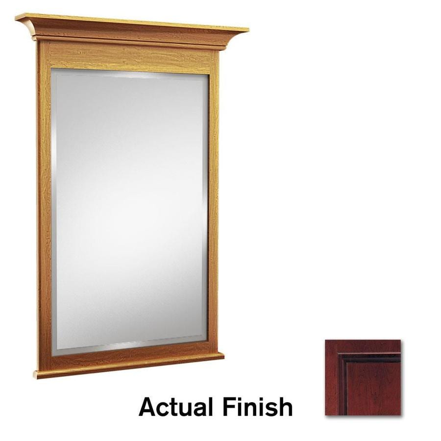 KraftMaid 42-in W x 36-in H Cabernet Rectangular Bathroom Mirror
