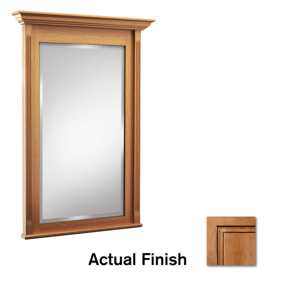KraftMaid 42-in W x 36-in H Ginger with Sable Glaze Rectangular Bathroom Mirror