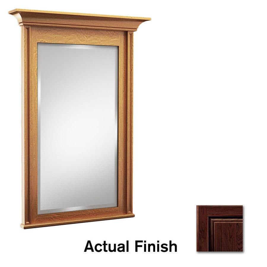 KraftMaid 42-in x 36-in Kaffe Rectangular Framed Bathroom Mirror
