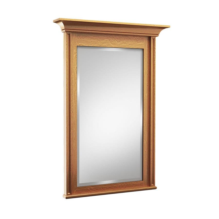 kraftmaid 42 in praline rectangular bathroom mirror at