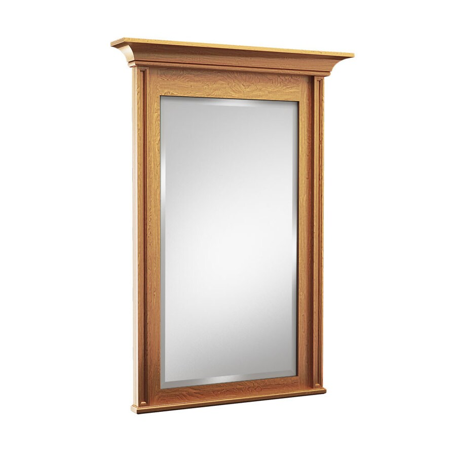 KraftMaid 48-in W x 36-in H Praline Rectangular Bathroom Mirror