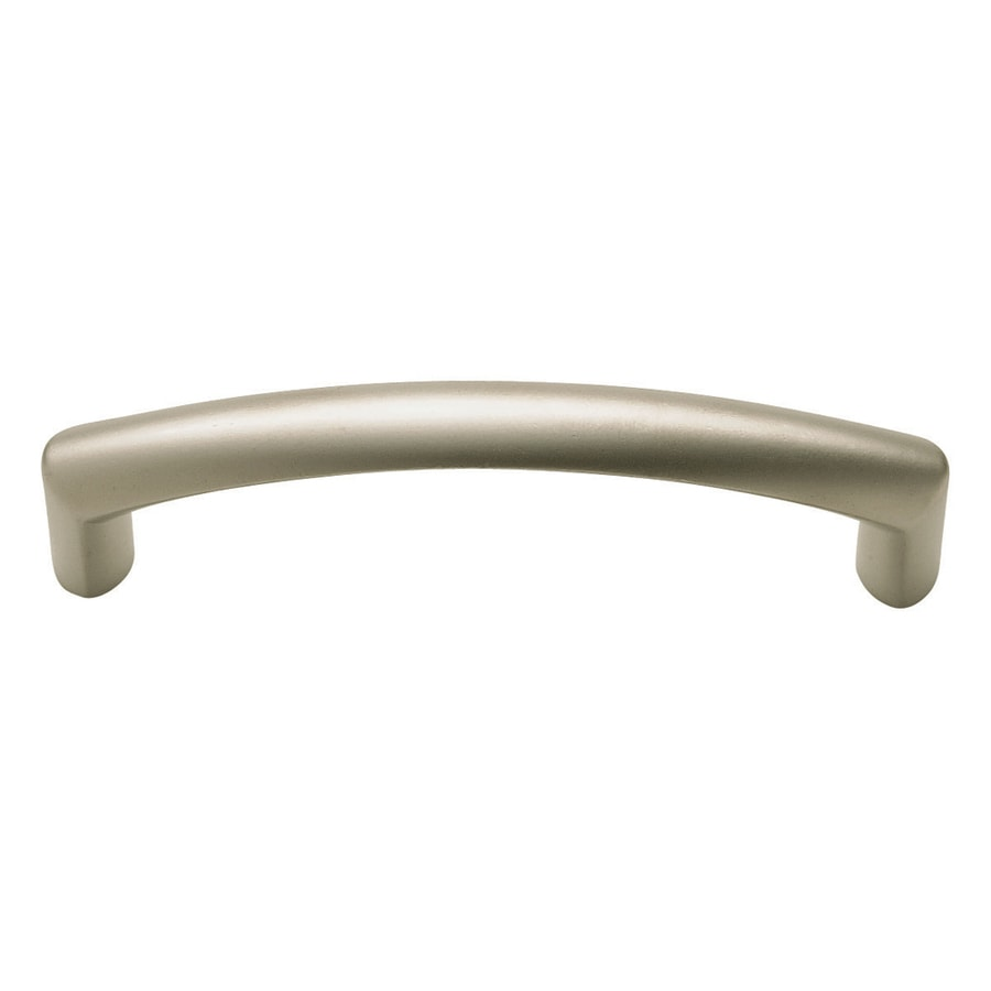 Shop KraftMaid 3-3/4-in Center to Center Satin Nickel Arch Bar ...