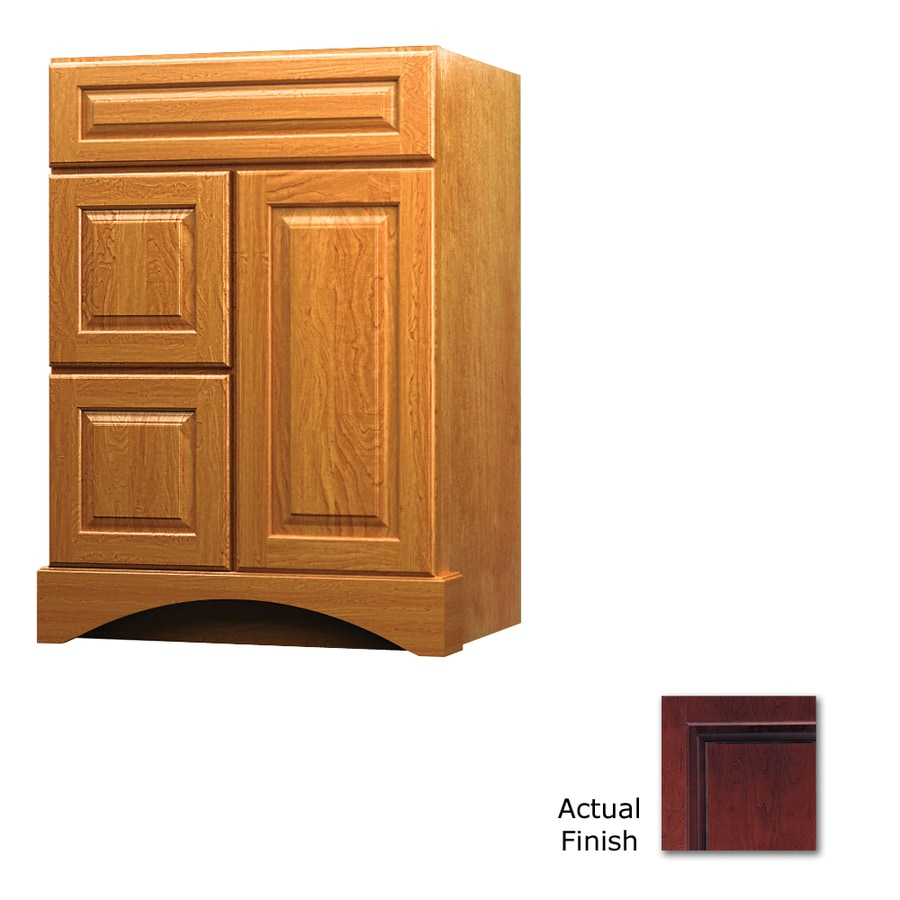KraftMaid Summerfield Montclair Cabernet (Common: 24-in x 21-in) Casual Bathroom Vanity (Actual: 24-in x 21-in)