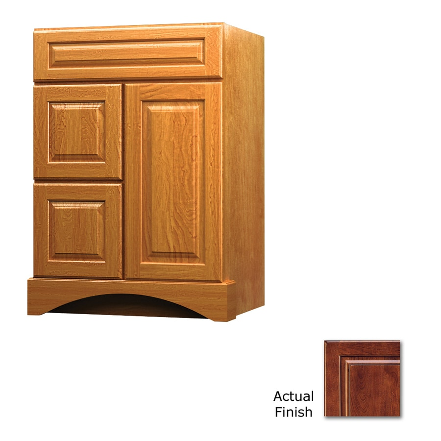 KraftMaid Antique Chocolate with Mocha Glaze Bathroom Vanity (Common: 24-in x 21-in; Actual: 24-in x 21-in)