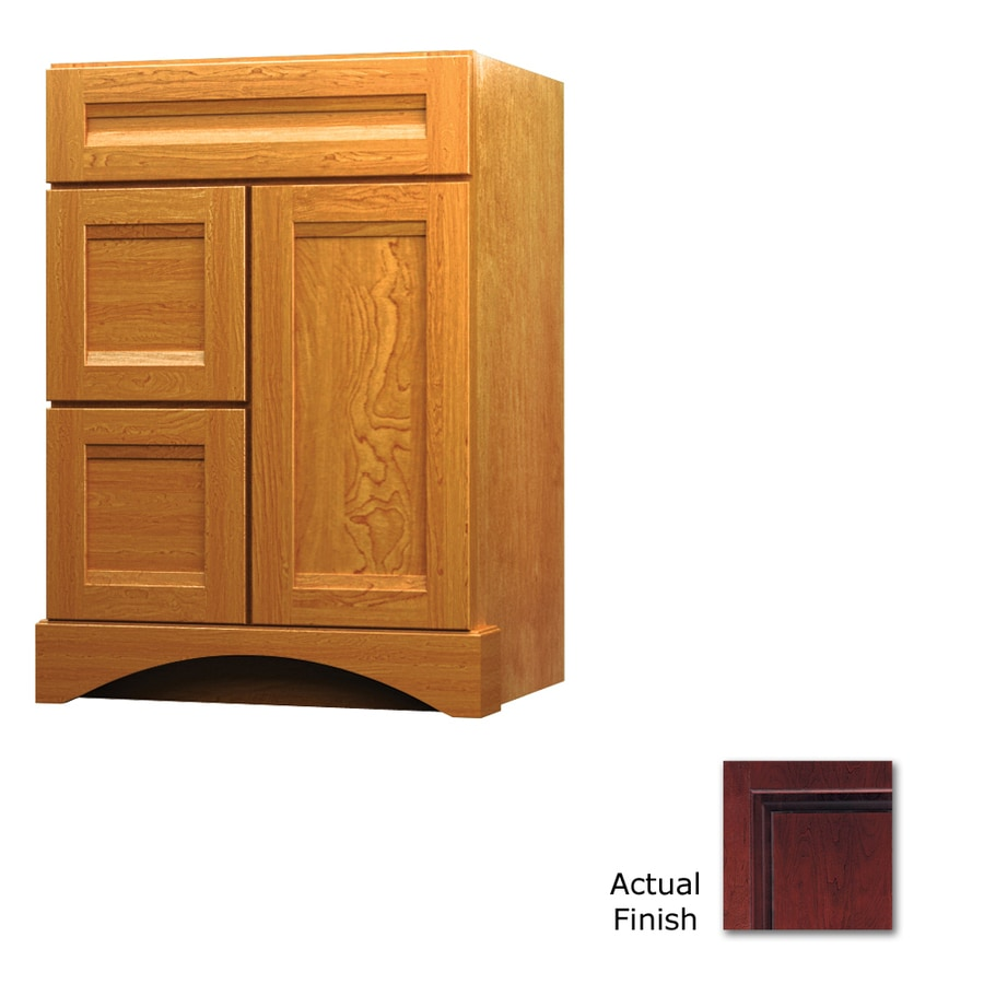 Shop Kraftmaid Cabernet Bathroom Vanity Common 24 In X 21 In Actual 24 In X 21 In At