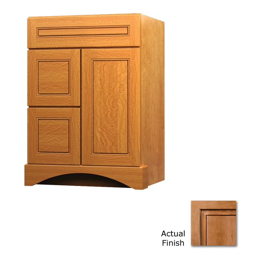 KraftMaid Ginger with Sable Glaze Bathroom Vanity (Common: 24-in x 21-in; Actual: 24-in x 21-in)