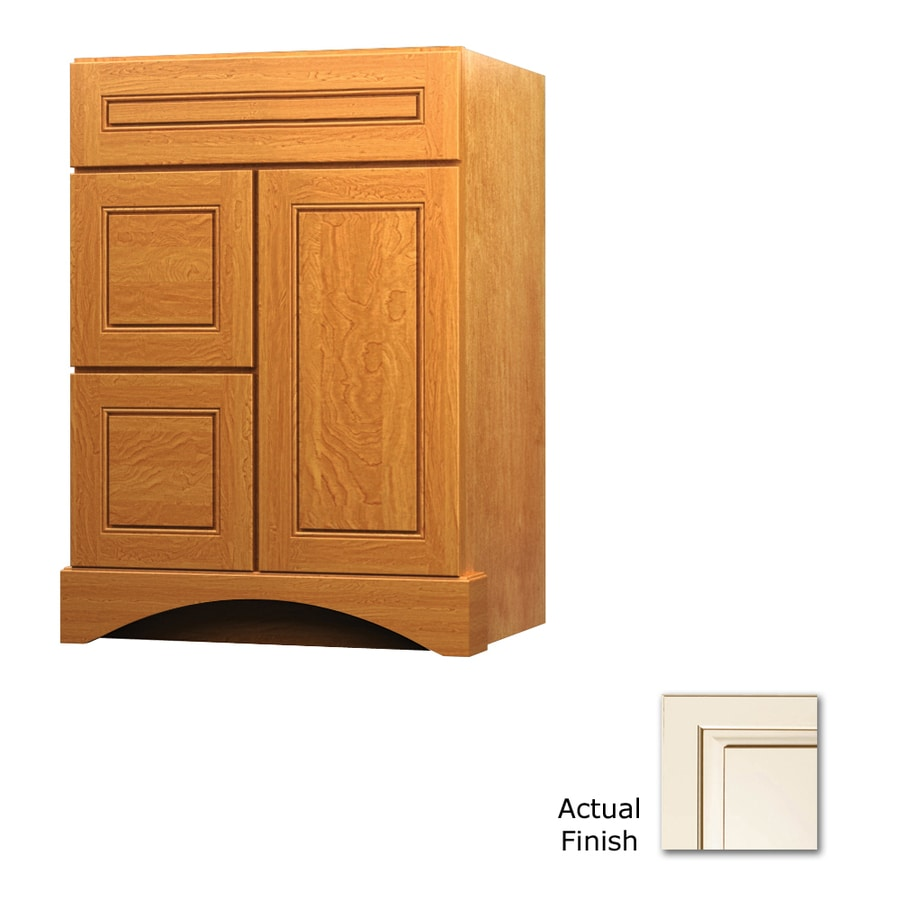 KraftMaid Canvas with Cocoa Glaze 24-in Casual Bathroom Vanity