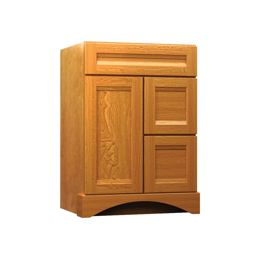 KraftMaid Summerfield Sonata Praline (Common: 24-in x 21-in) Casual Bathroom Vanity (Actual: 24-in x 21-in)