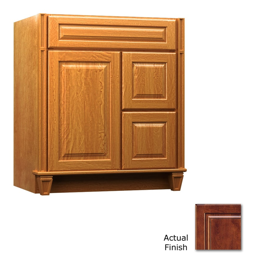 KraftMaid Key Biscayne Montclair Antique Chocolate with Mocha Glaze (Common: 30-in x 18-in) Traditional Bathroom Vanity (Actual: 30-in x 18-in)