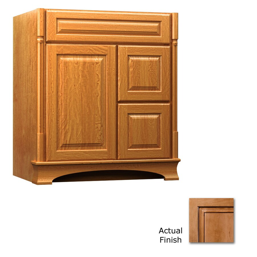 KraftMaid Ginger with Sable Glaze Bathroom Vanity (Common: 30-in x 18-in; Actual: 30-in x 18-in)