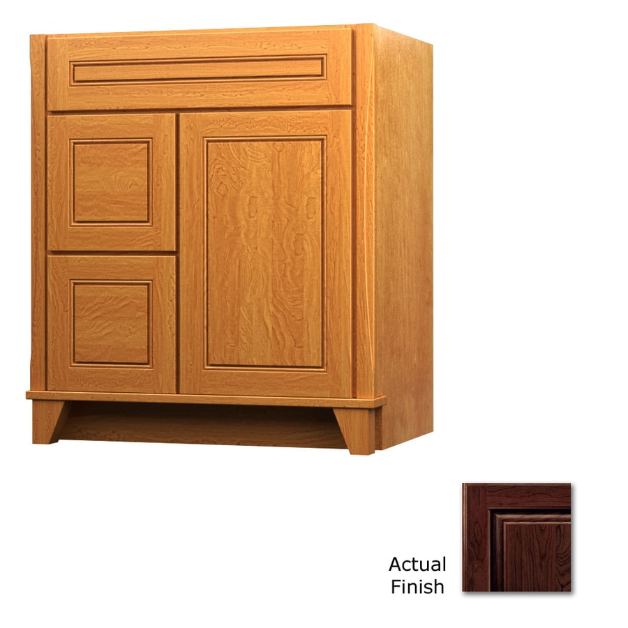 KraftMaid Tribecca Provence Kaffe (Common: 30-in x 21-in) Contemporary Bathroom Vanity (Actual: 30-in x 21-in)