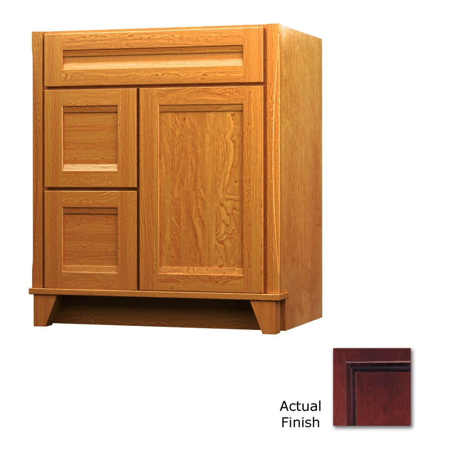 KraftMaid Cabernet 30-in Contemporary Bathroom Vanity