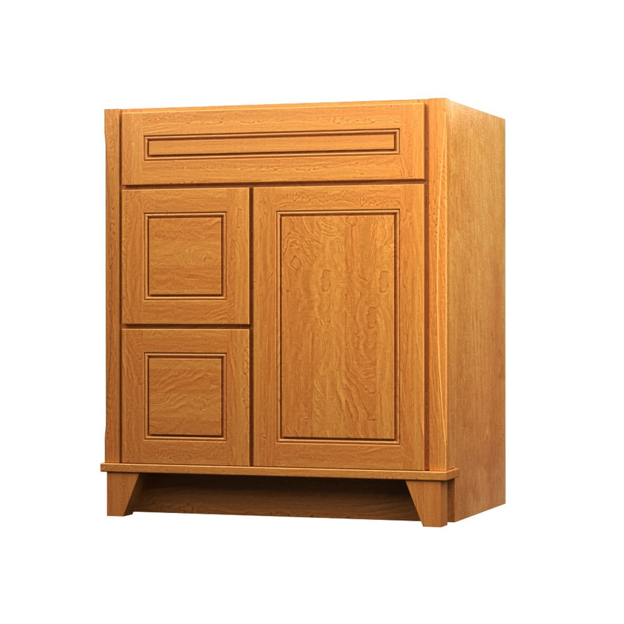 KraftMaid Tribecca Provence Praline (Common: 30-in x 21-in) Contemporary Bathroom Vanity (Actual: 30-in x 21-in)