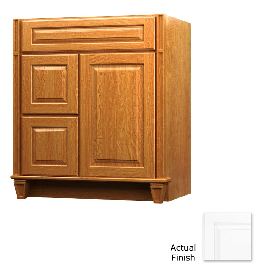 KraftMaid Key Biscayne Montclair Dove White (Common: 30-in x 21-in) Traditional Bathroom Vanity (Actual: 30-in x 21-in)