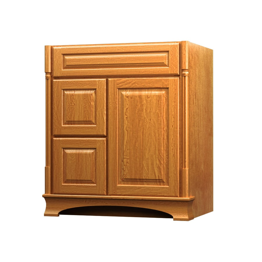 Shop kraftmaid praline bathroom vanity common 30 in x 21 Kraftmaid bathroom cabinets