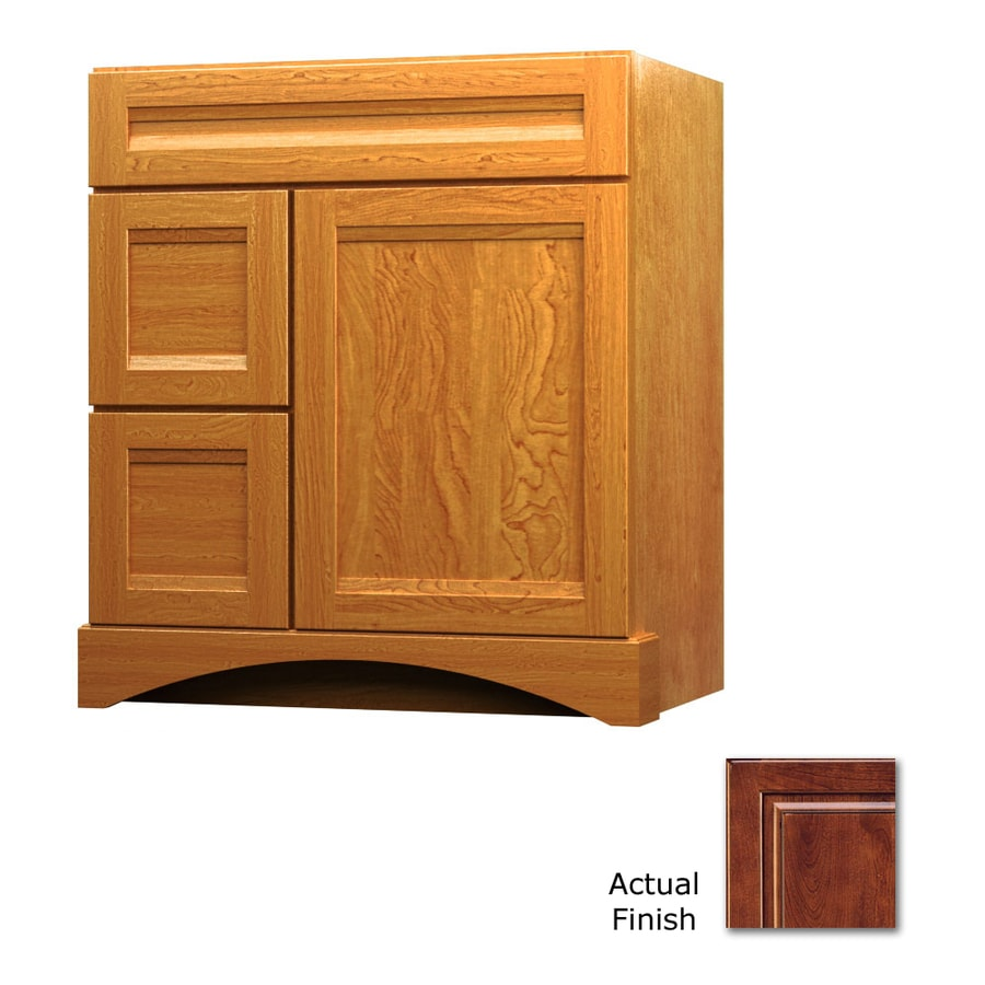 KraftMaid Antique Chocolate with Mocha Glaze Bathroom Vanity (Common: 30-in x 21-in; Actual: 30-in x 21-in)