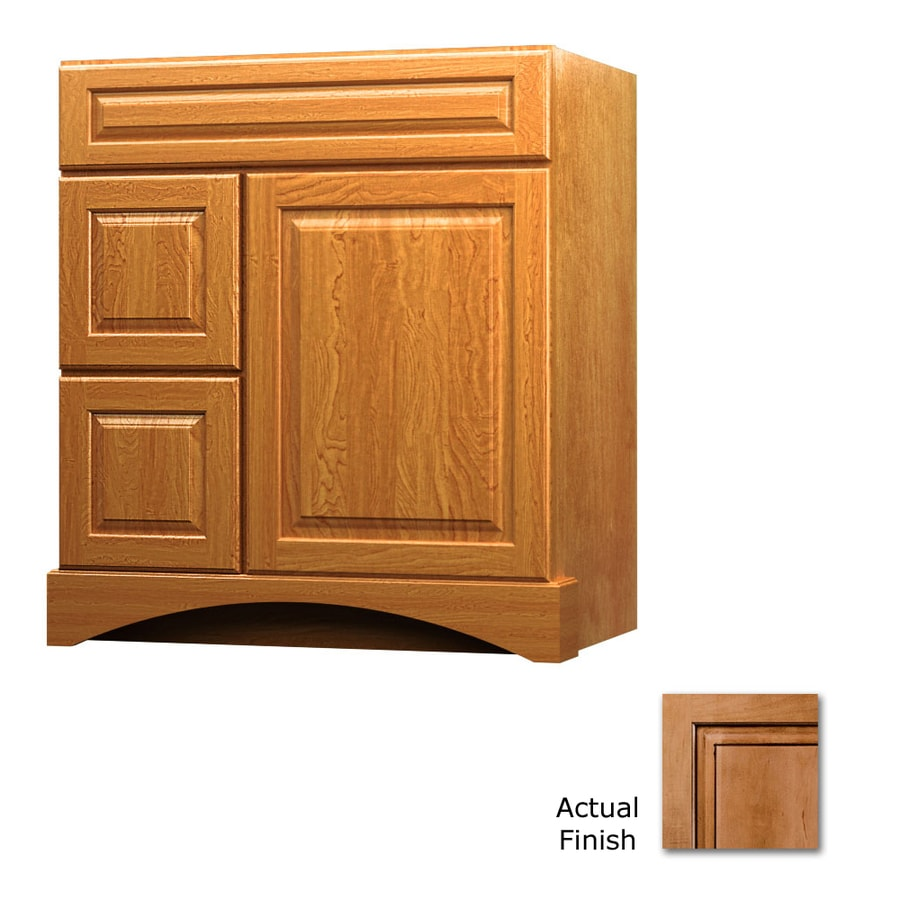 KraftMaid Ginger with Sable Glaze Bathroom Vanity (Common: 30-in x 21-in; Actual: 30-in x 21-in)