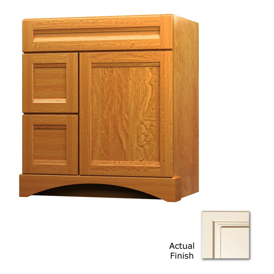 KraftMaid Canvas with Cocoa Glaze 30-in Casual Bathroom Vanity