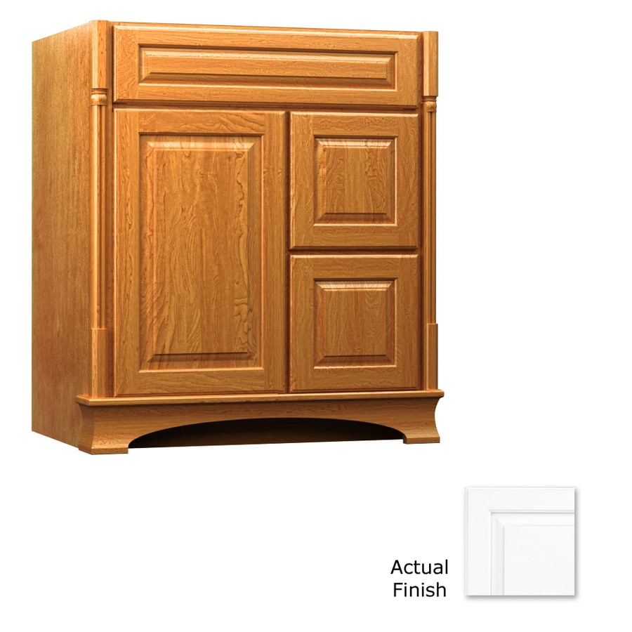 KraftMaid Chambord Montclair Dove White (Common: 30-in x 21-in) Traditional Bathroom Vanity (Actual: 30-in x 21-in)