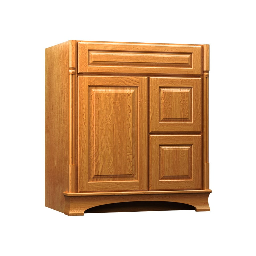 KraftMaid Chambord Montclair Praline (Common: 30-in x 21-in) Traditional Bathroom Vanity (Actual: 30-in x 21-in)