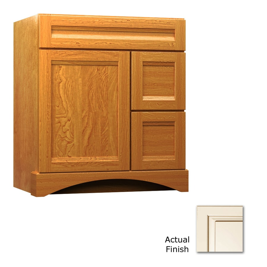 KraftMaid Summerfield Sonata Canvas with Cocoa Glaze (Common: 30-in x 21-in) Casual Bathroom Vanity (Actual: 30-in x 21-in)