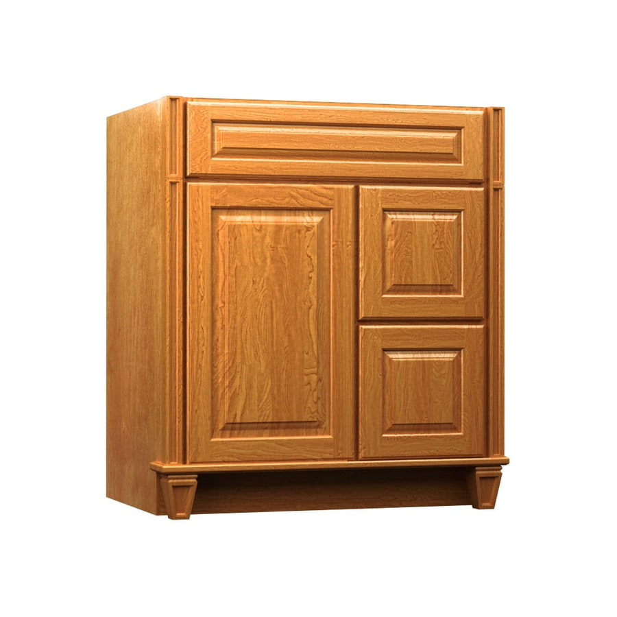 KraftMaid Key Biscayne Montclair Praline (Common: 36-in x 18-in) Traditional Bathroom Vanity (Actual: 36-in x 18-in)