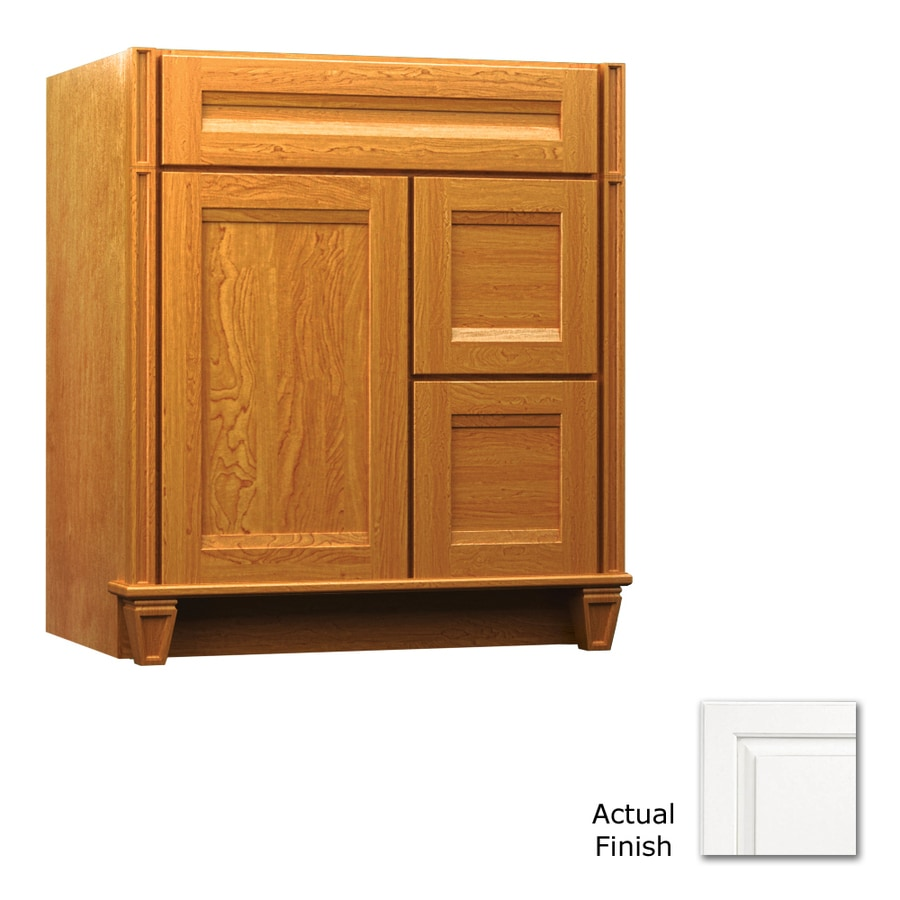 Shop kraftmaid dove white bathroom vanity common 36 in x for Dove white cabinets with cocoa glaze