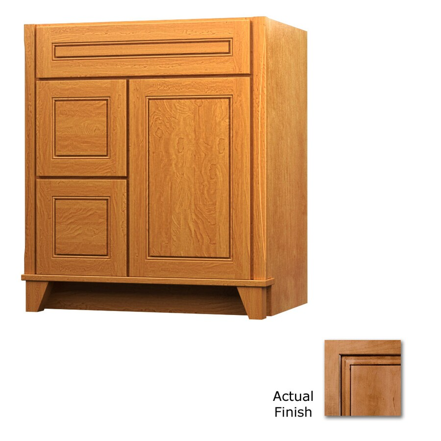 KraftMaid Ginger with Sable Glaze Bathroom Vanity (Common: 36-in x 21-in; Actual: 36-in x 21-in)