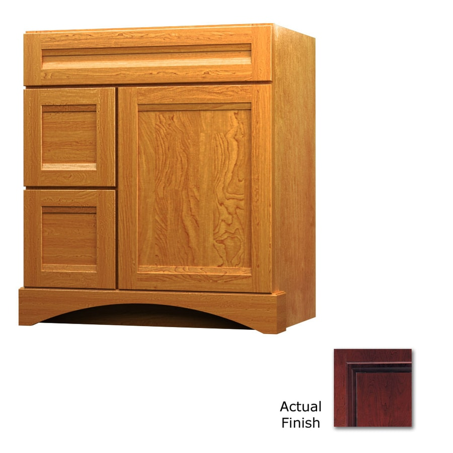 KraftMaid Cabernet Bathroom Vanity (Common: 36-in x 21-in; Actual: 36-in x 21-in)