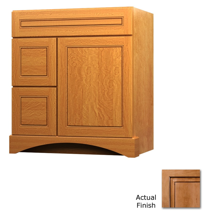 KraftMaid Summerfield Provence Ginger with Sable Glaze (Common: 36-in x 21-in) Casual Bathroom Vanity (Actual: 36-in x 21-in)