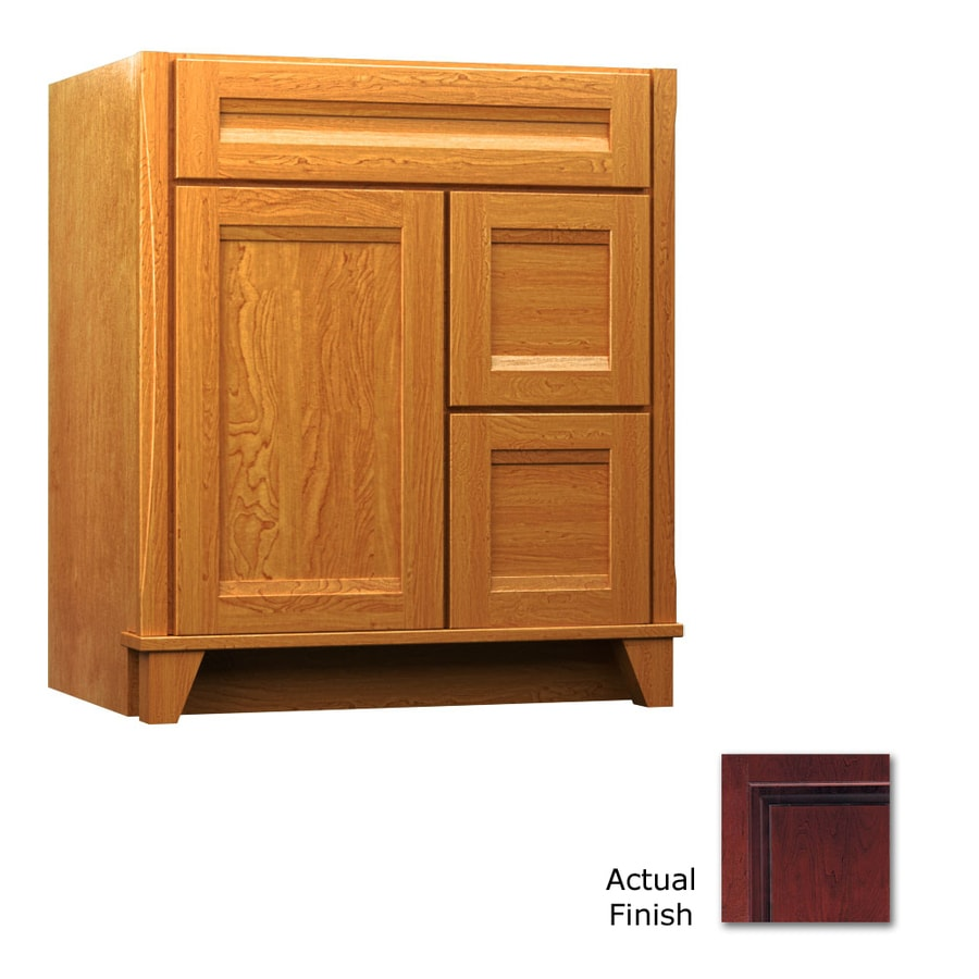 KraftMaid Tribecca Sonata Cabernet (Common: 36-in x 21-in) Contemporary Bathroom Vanity (Actual: 36-in x 21-in)