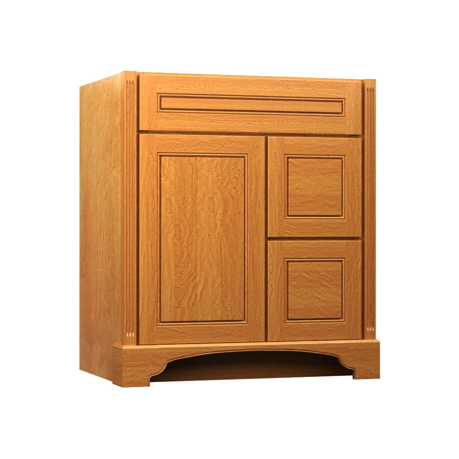 KraftMaid Savoy Provence Praline (Common: 36-in x 21-in) Traditional Bathroom Vanity (Actual: 36-in x 21-in)
