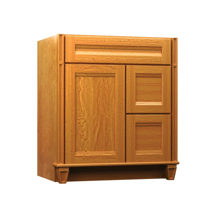 KraftMaid Key Biscayne Sonata Praline (Common: 36-in x 21-in) Traditional Bathroom Vanity (Actual: 36-in x 21-in)
