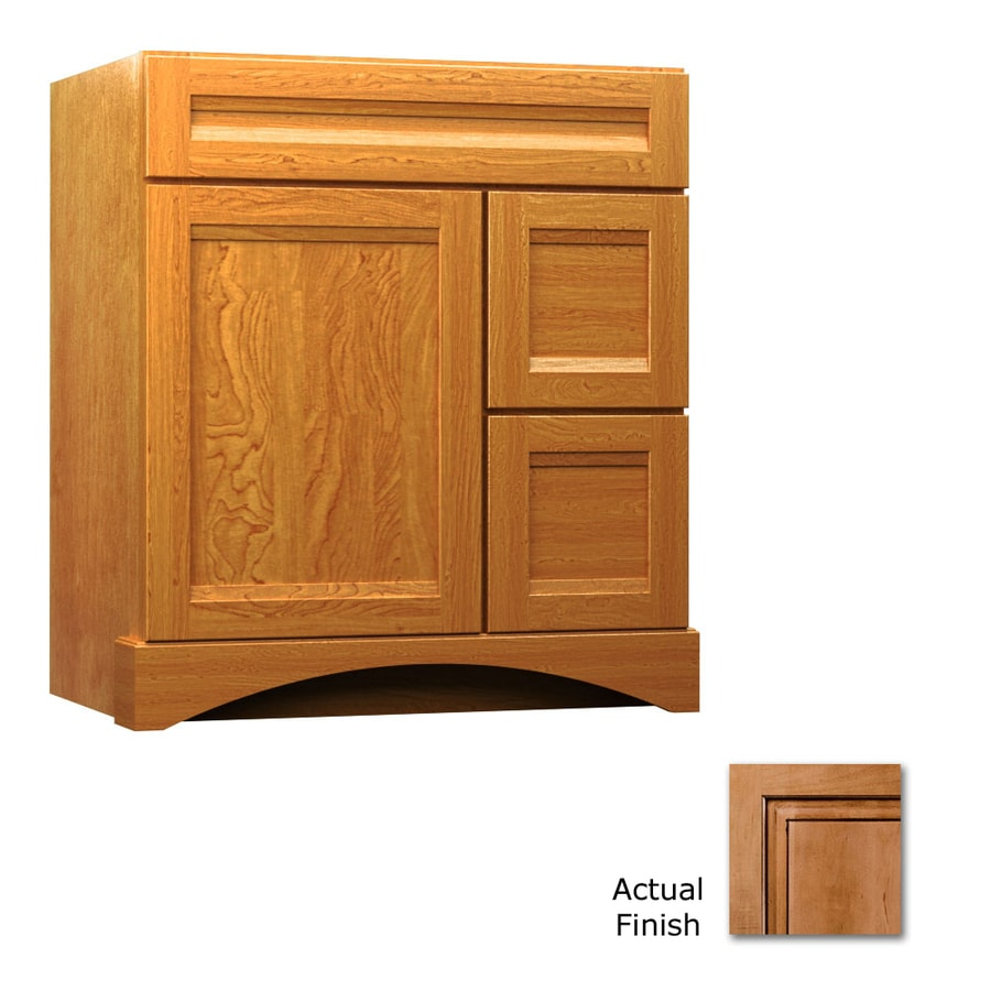 KraftMaid Summerfield Sonata Ginger with Sable Glaze (Common: 36-in x 21-in) Casual Bathroom Vanity (Actual: 36-in x 21-in)