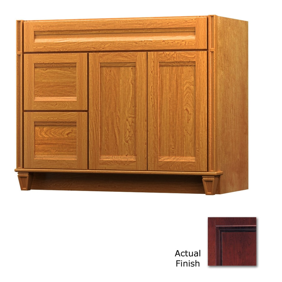 KraftMaid Key Biscayne Sonata Cabernet (Common: 42-in x 18-in) Traditional Bathroom Vanity (Actual: 42-in x 18-in)
