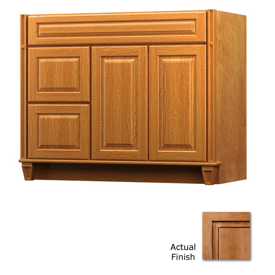 KraftMaid Ginger with Sable Glaze Bathroom Vanity (Common: 42-in x 18-in; Actual: 42-in x 18-in)