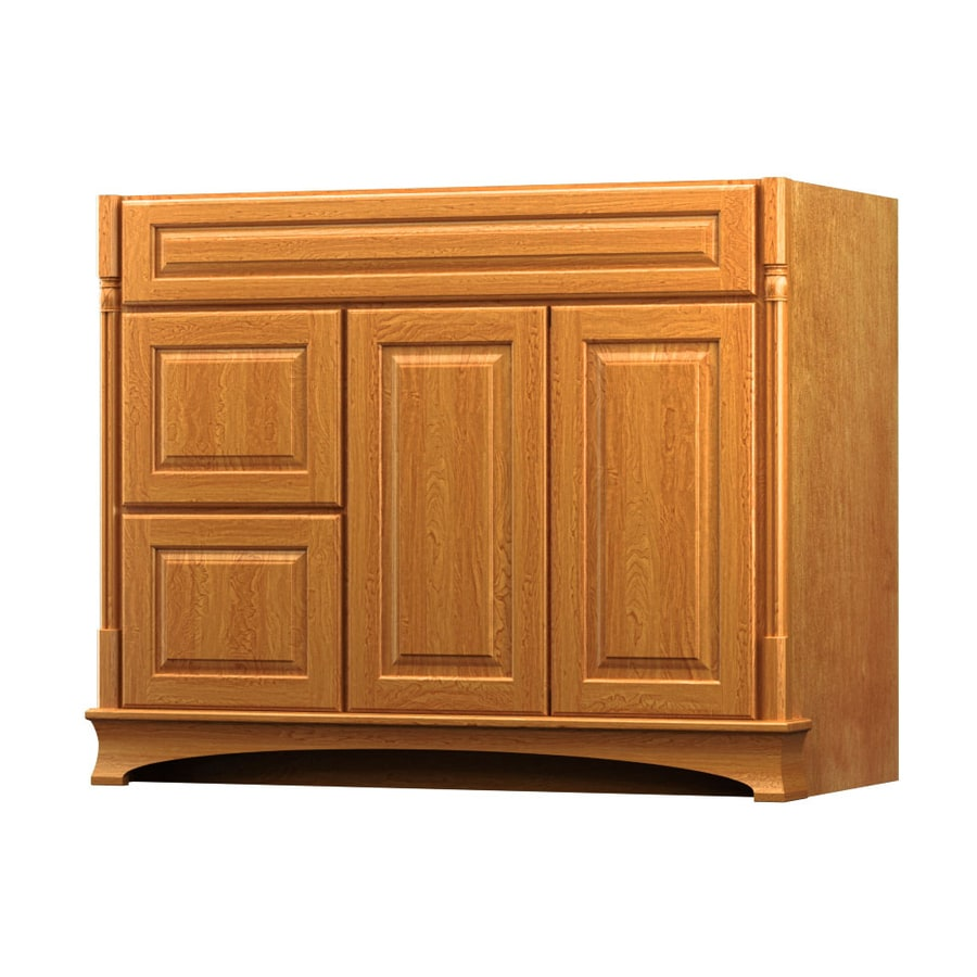 shop kraftmaid praline bathroom vanity common 42 in x 18
