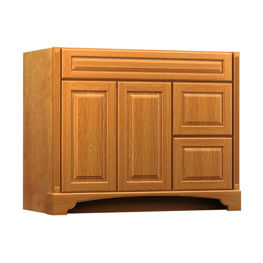 Shop Kraftmaid Praline Bathroom Vanity Common 42 In X 18 In Actual 42 In X 18 In At